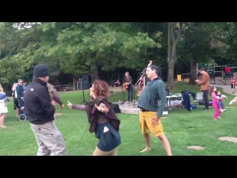 Interpretive dancers at The Novelists (with Megan Slankard) in Marinwood Music in the Park