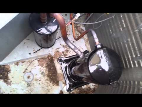 replacing package heat pump compressor