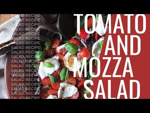 Tomato & Mozzarella Salad with Himalayan Pink Salt