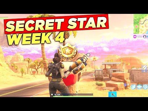 SECRET BATTLE STAR WEEK 4 SEASON 5 LOCATION! Fortnite Battle Royale Free Tier (Road Trip Challenges)