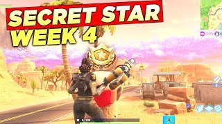 SECRET BATTLE STAR WEEK 4 SEASON 5 LOCATION! Fortnite Battle Royale Free Tier (Road Trip Challenges)