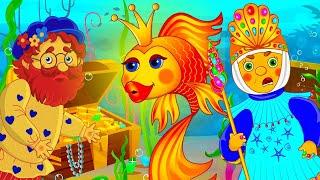 Сказка о рыбаке и рыбке или Золотая рыбка / Мультфильм для детей / Машулины сказки / Сказки малышам
