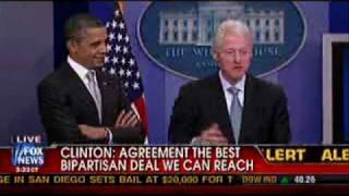 Obama Abruptly Leaves Press Conference, Clinton Left At Podium