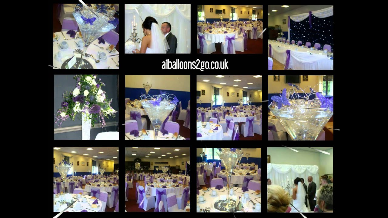 Wedding Table Decorations And Themes In Glasgow Scotland Uk Event Dressers A1 Balloons 2 Go