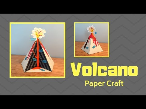 Paper Volcano Diorama