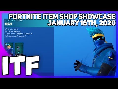 Fortnite Item Shop *NEW* NINJA SET! [January 16th, 2020] (Fortnite Battle Royale)
