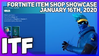 Fortnite Item Shop *NEW* NINJA SET! [January 16th, 2020] (Fortnite Battle Royale)