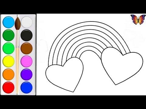 Как нарисовать РАДУГУ / мультик раскраска РАДУГА  для детей /Раскраски Малышам