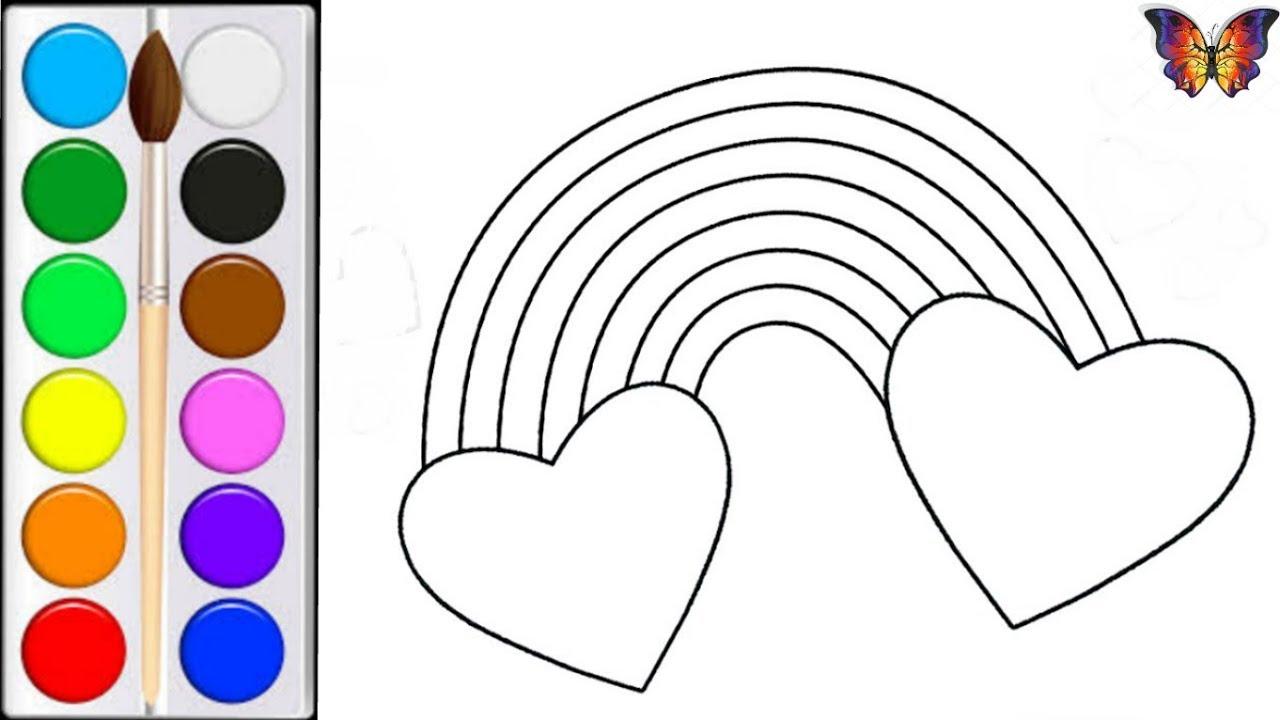 Как нарисовать РАДУГУ / мультик раскраска РАДУГА для детей ...