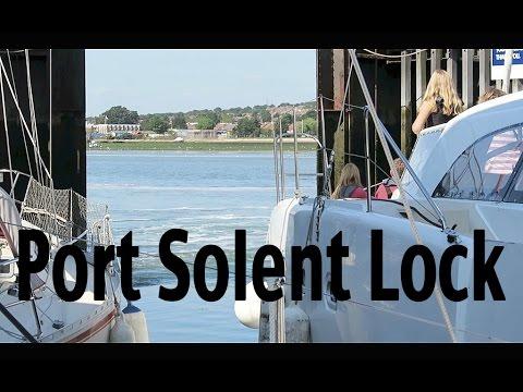 Sailing from Hamble to Port Solent - Lock Procedure