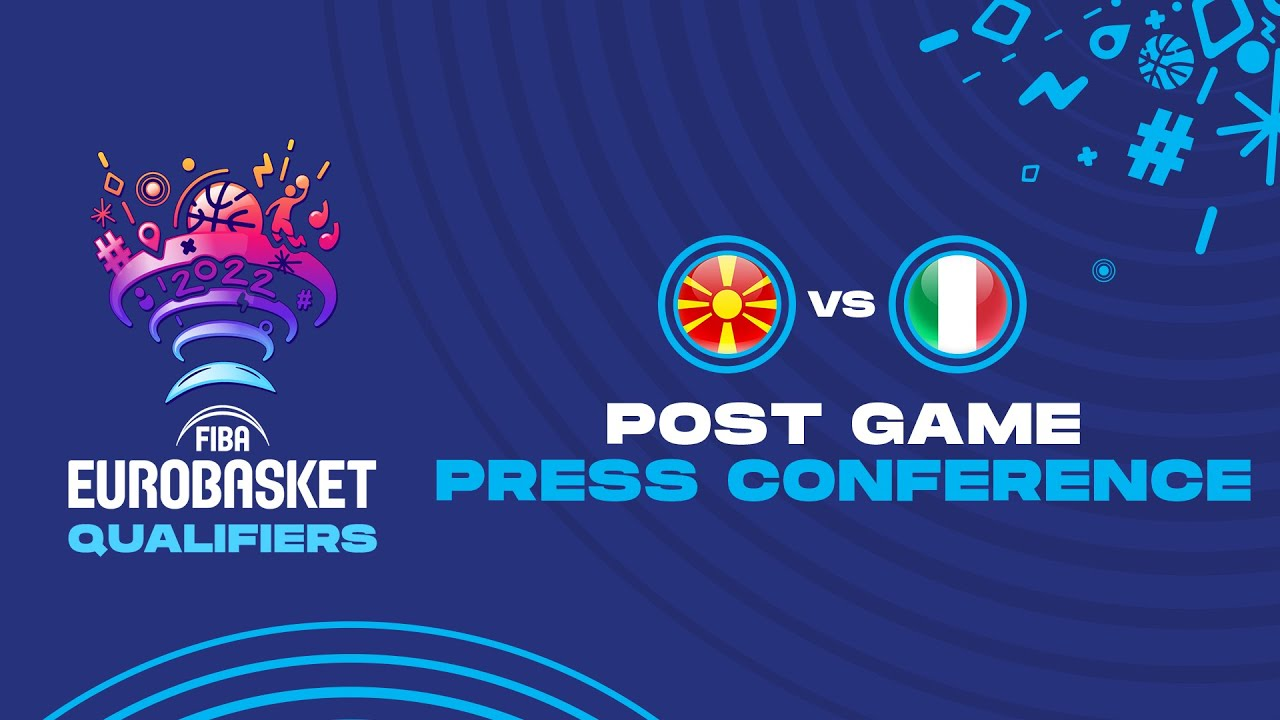 North Macedonia v Italy - Press Conference - FIBA EuroBasket Qualifiers 2022