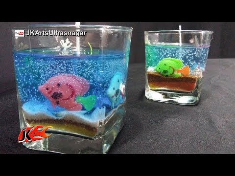 HOW TO MAKE GEL CANDLE    BEACH CANDLE   JK Arts 1560