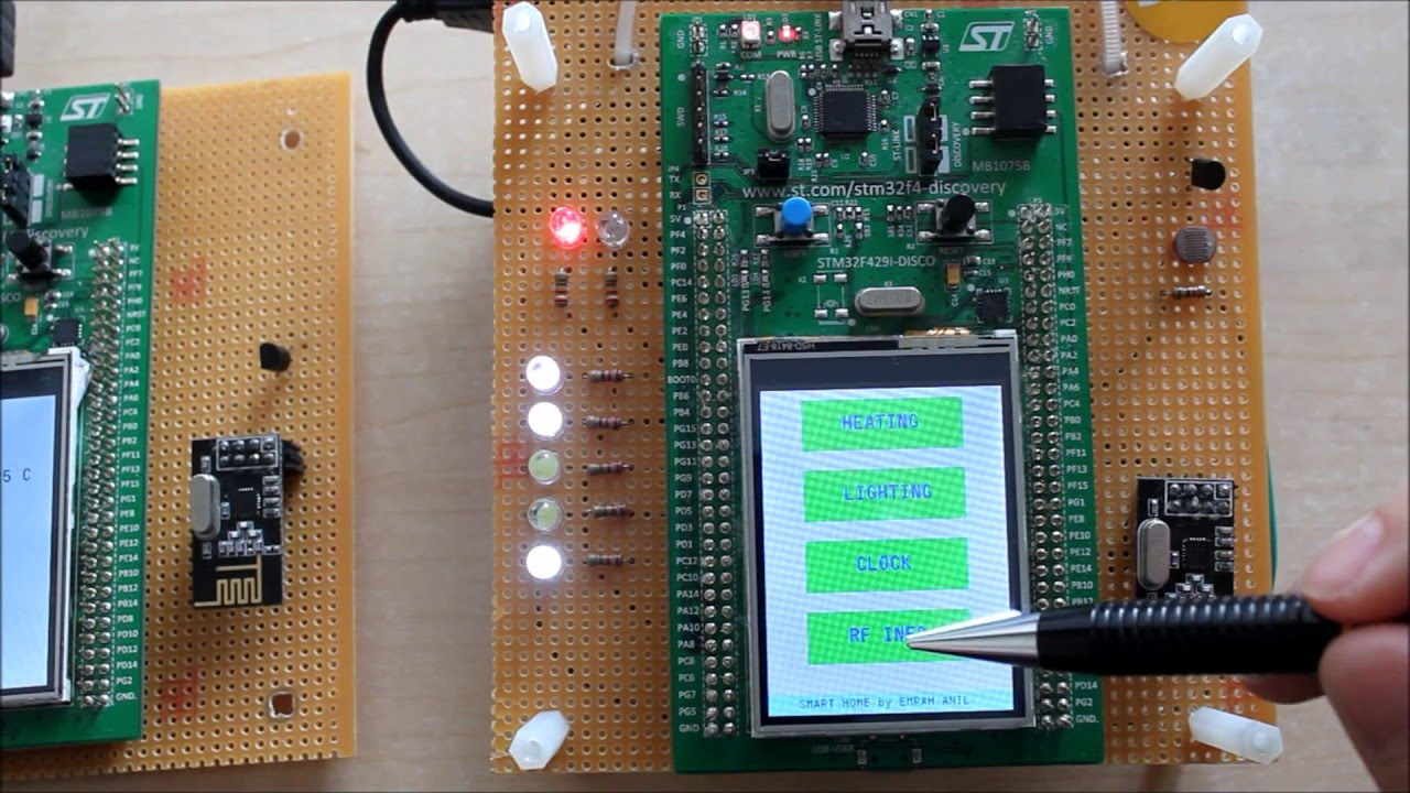 Home Automation System with STM32F429 Discovery Board by Anil Emrah