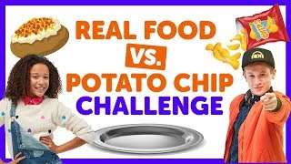 Real Food vs. Potato Chip Challenge with Ahnya & Cooper from The KIDZ BOP Kids