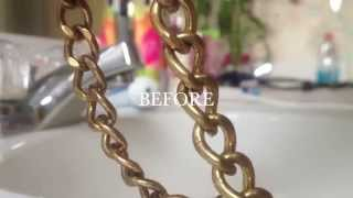Repeat youtube video HOW TO: clean fashion jewelry with one household product