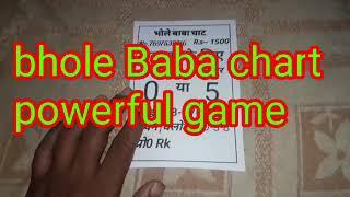 21/08/19 . Kalyan ke liye bhole Baba chart fix game