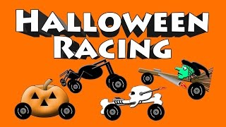 Halloween Racing - Spell Skeleton, Pumpkin, Spider and Witch