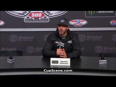 NASCAR at Bristol Motor Speedway: Jimmie Johnson post race