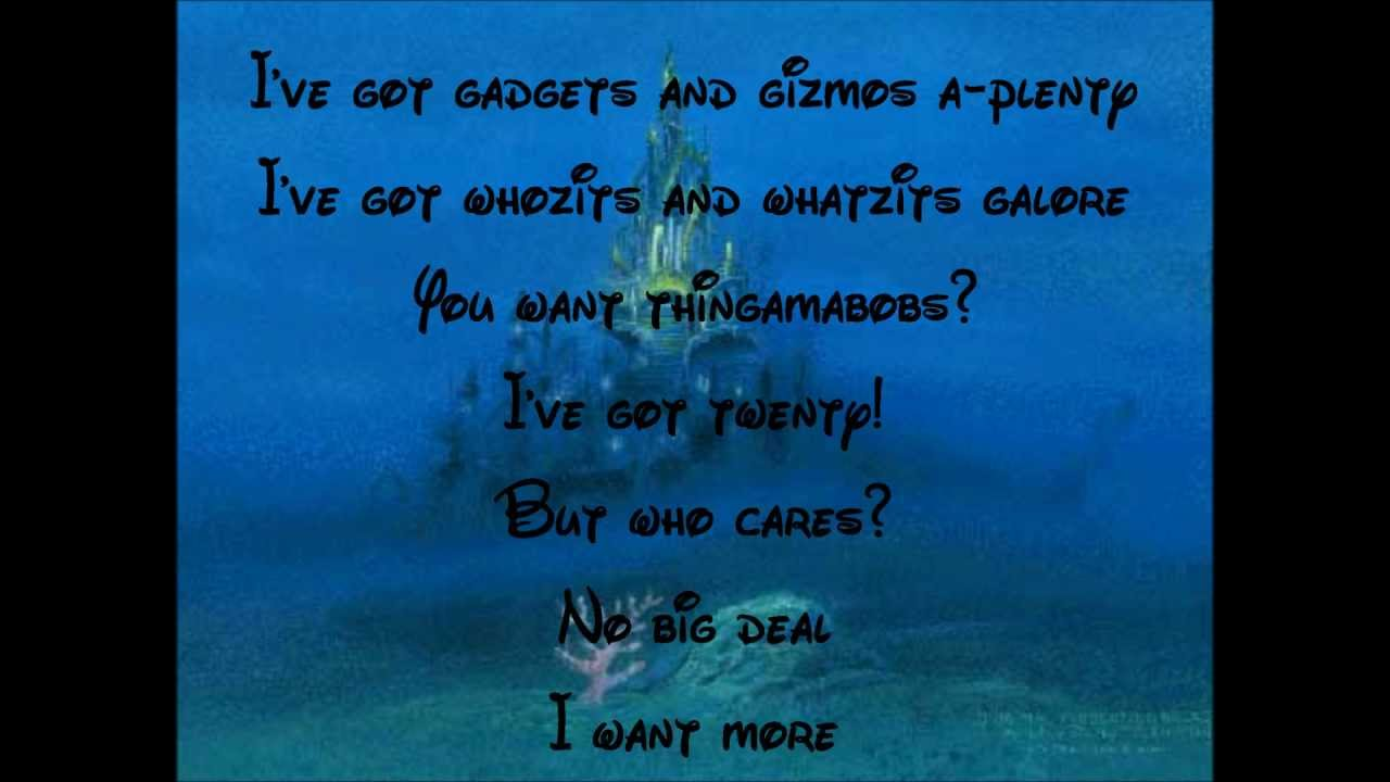 The little mermaid part of your world lyrics. - YouTube