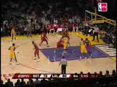 LA Lakers 103 - 91 Detroit Pistons NBA 2007/08 Highlights