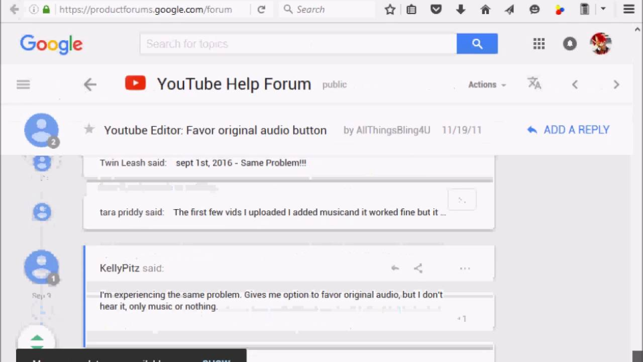 how to add audio tracks to youtube videos and backgound music issue