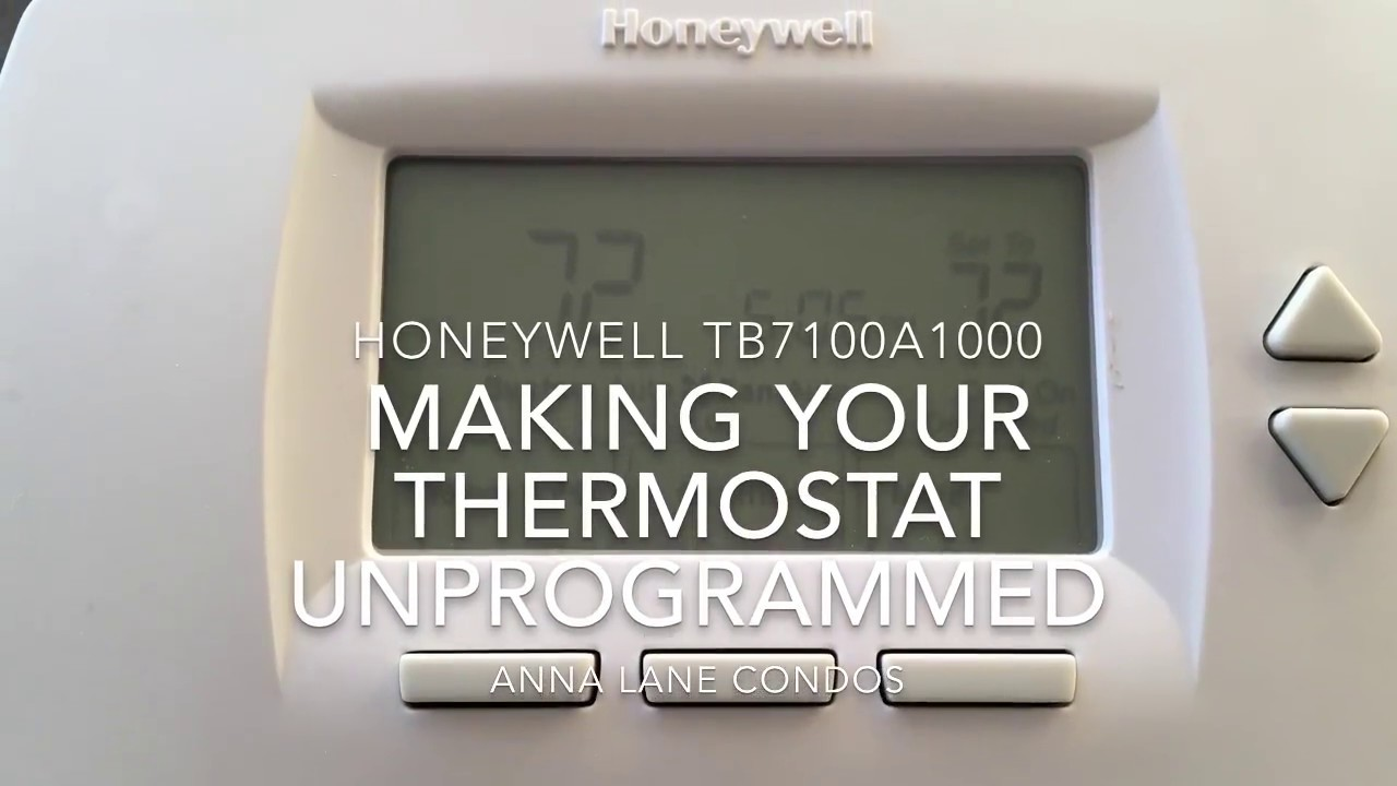 Deprogramming Your Thermostat  Manual Mode
