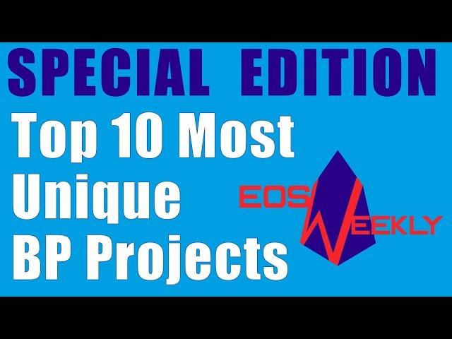 Top 10 Most Unique BP Projects!