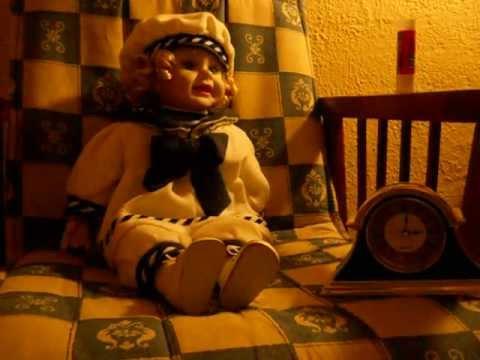 Haunted doll moves at dawn.