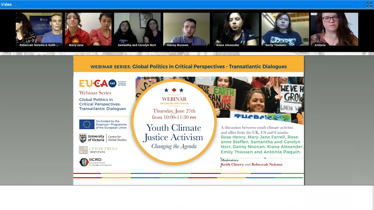 Youth Climate Justice Activism Webinar