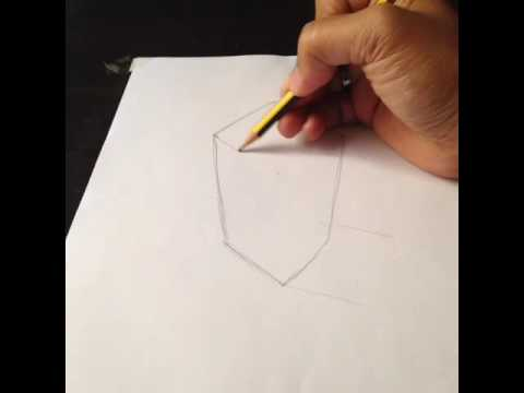 Blurry Edge Between Pencilpaper Reality Drawing A Box Art - Reality with pencil and paper