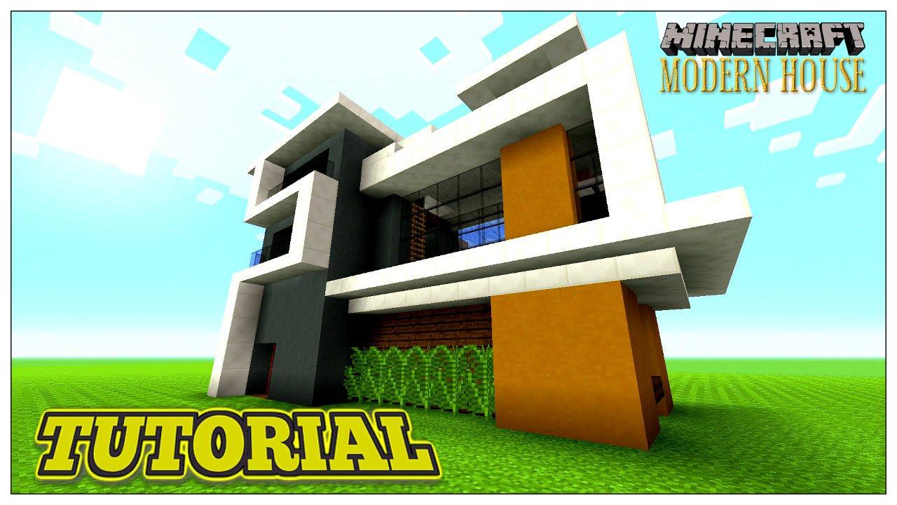 MINECRAFT TUTORIAL: MODERN HOUSE (STEP BY STEP) 2016 - YouTube