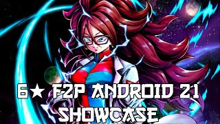 ** MONSTER SUPPORT! 6* F2P ANDROID 21 SHOWCASE! * Dragon Ball Legends *