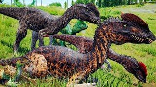 Sociedade dos Dilofossauros, Alossauro Amigável? Primeira Caçada do Filhote Dilo   The Isle   PT/BR