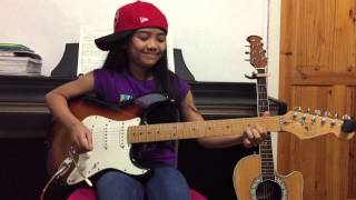 9 yr old  guitar cover of Back In Black - AC/DC