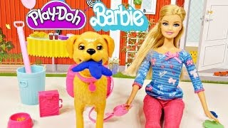Barbie Potty Trainin' Taffy Pet Dog Play Doh Barbie Dolls Toys Review By Disney Cars Toy Club