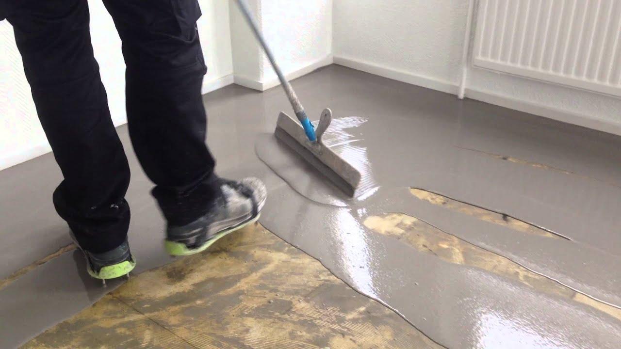 VloerSterk  Aanbrengen laag egaline op vloer met egaline