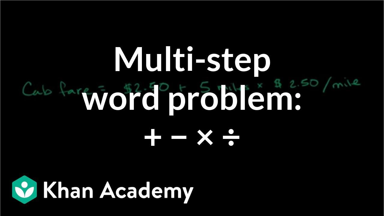 Worksheet Khan Academy Subtraction multi step word problem with addition subtraction and multiplication pre algebra khan academy