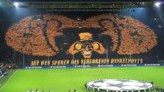 Torcida do Borussia Dortmund - Champions League - Quartas de Final 2013! ESPETACULAR!