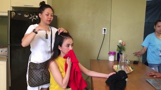 gia dinh la so 1 Hậu trường sitcom GDLS1 | Yumi tự búi tóc cực đáng yêu trong phim trường