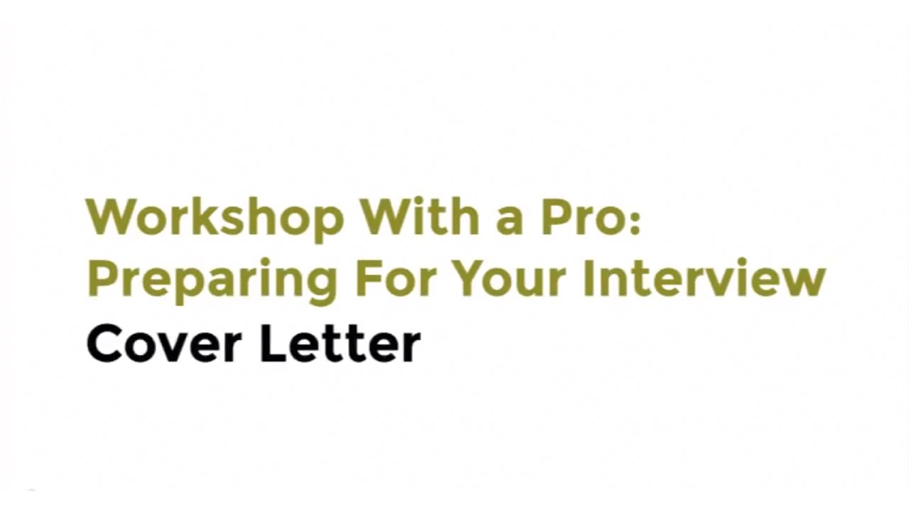 workshop a pro preparing for your interview intel workshop a pro preparing for your interview intel cover letter