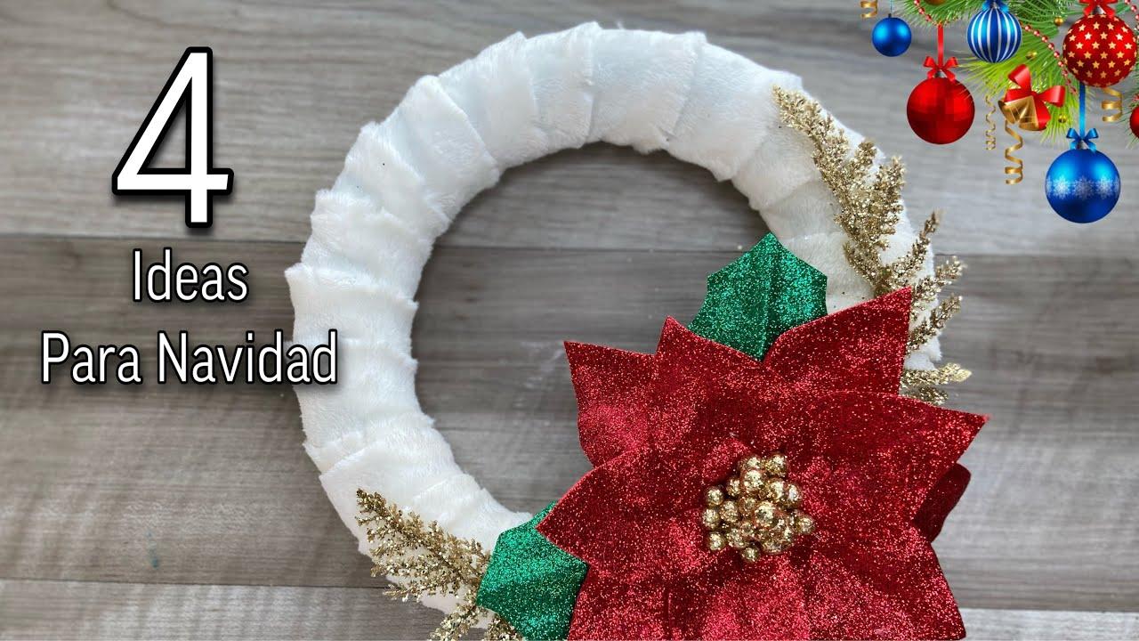 4 Manualidades Navideñas Para VENDER/Christmas Decoration IDEAS/Adornos Navideños🎄