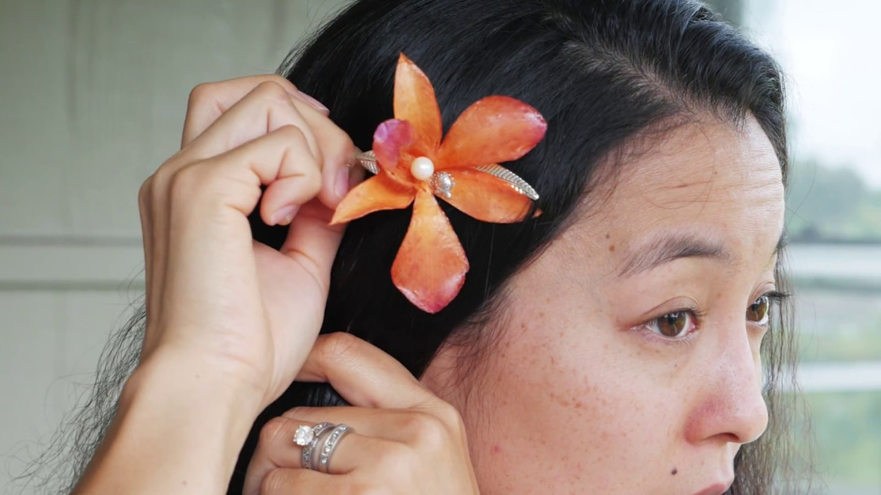 The Orchid Combo (Brooch & Hair Clip)