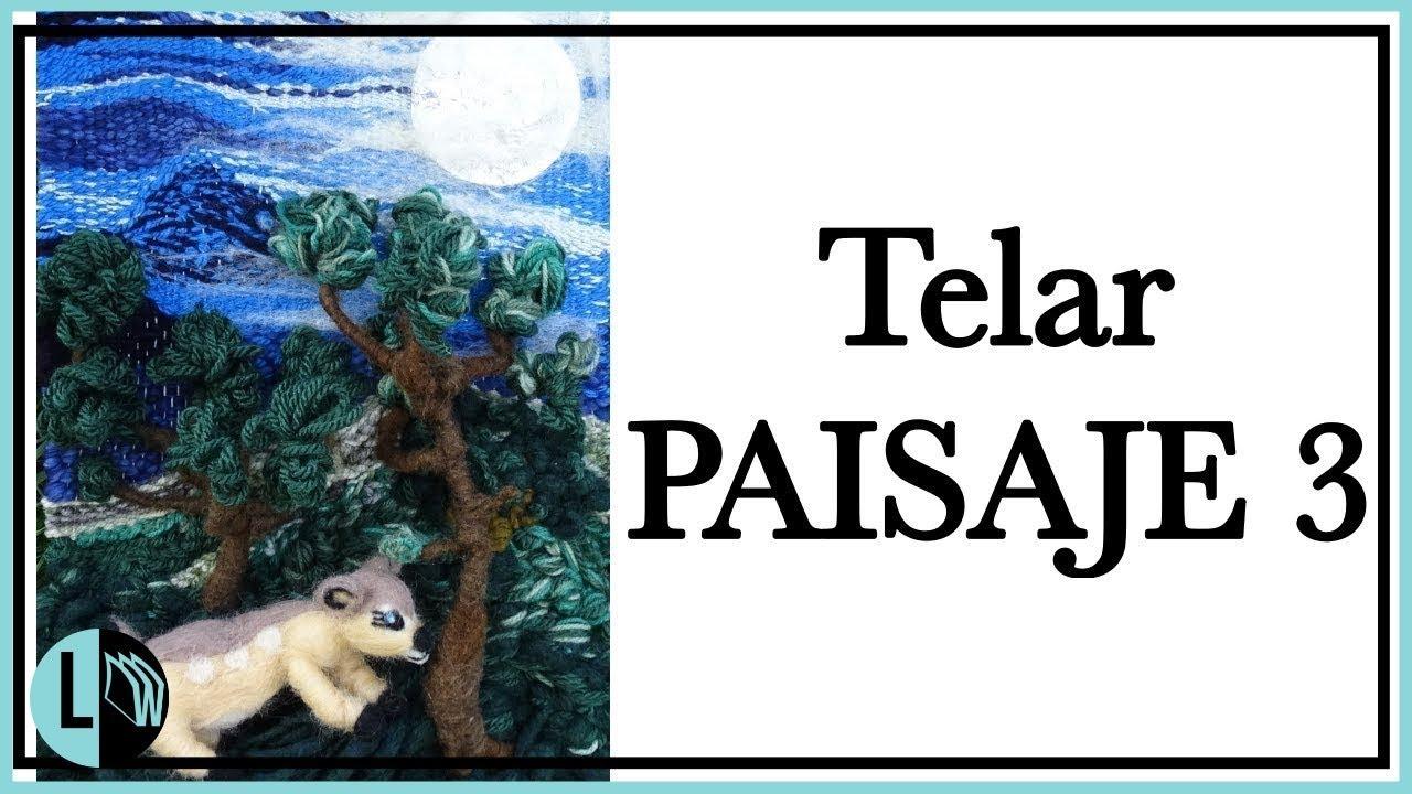 TELAR DECORATIVO Paisaje 3 en Relieve TELAR ÁRBOL Paso a Paso Wall ...
