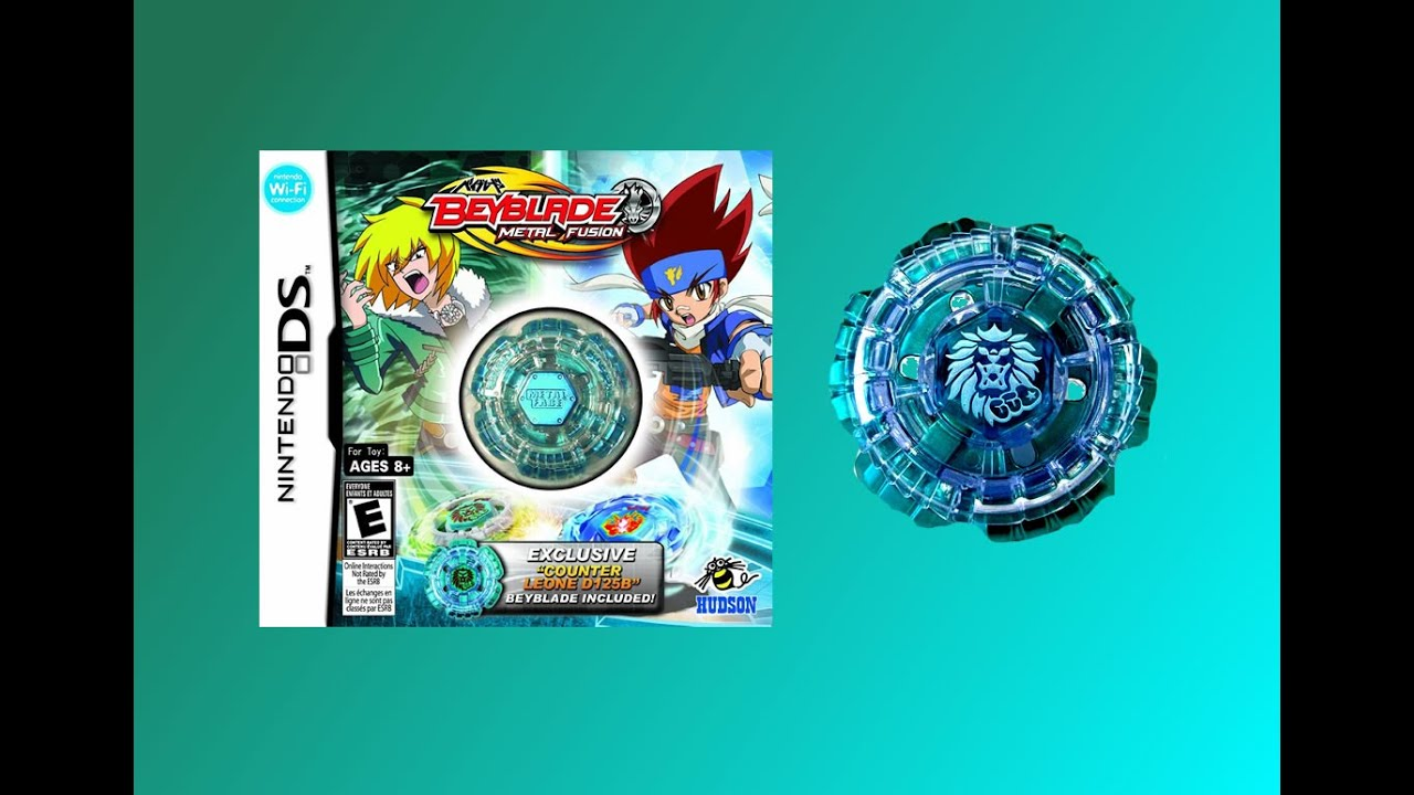 Beyblade Nintendo DS Counter Leone D125B Unboxing Review ...