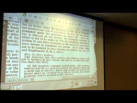 Larry Becraft, John Green discussion income tax, 2012/12/16
