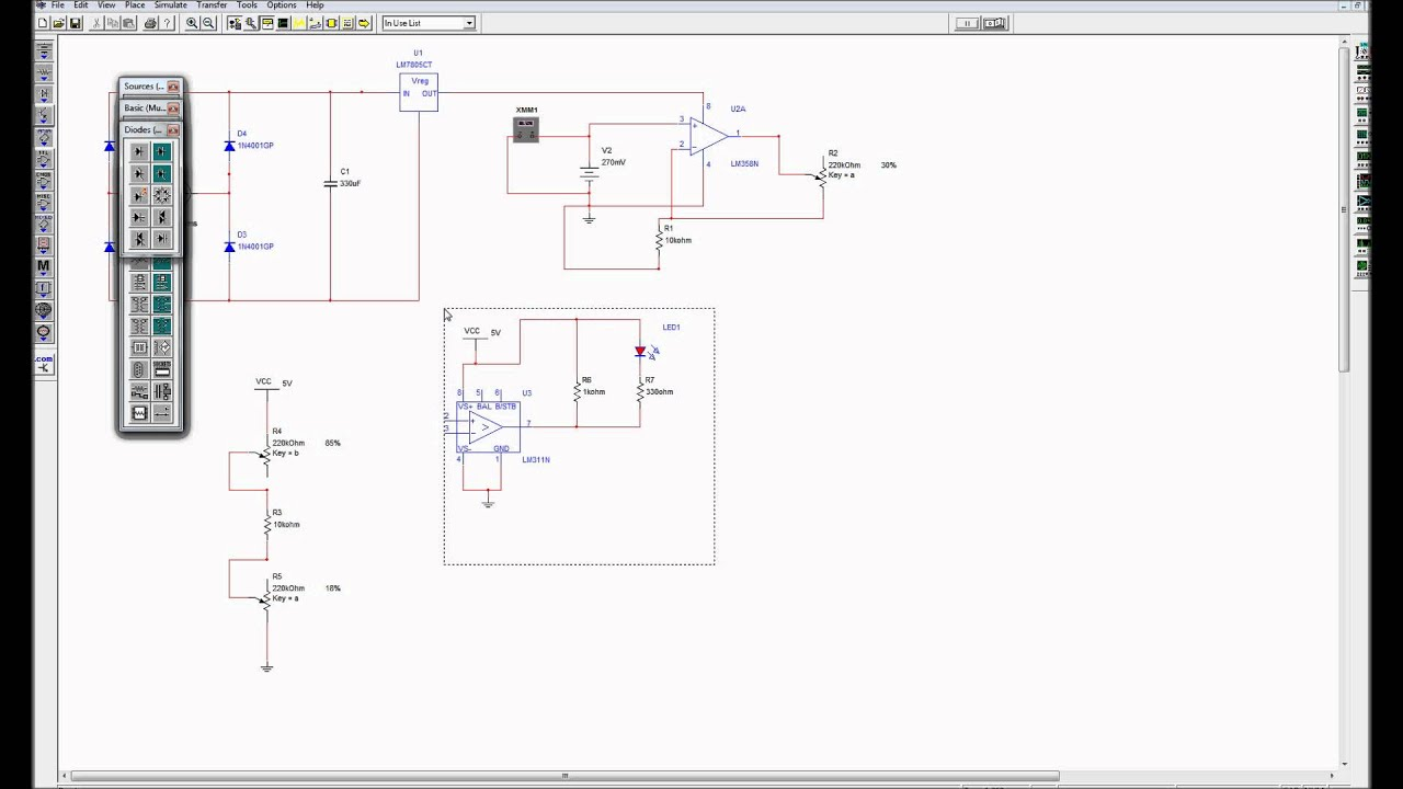 Comparatorswmv Youtube Comparator Circuits With Hysteresis Design Tool