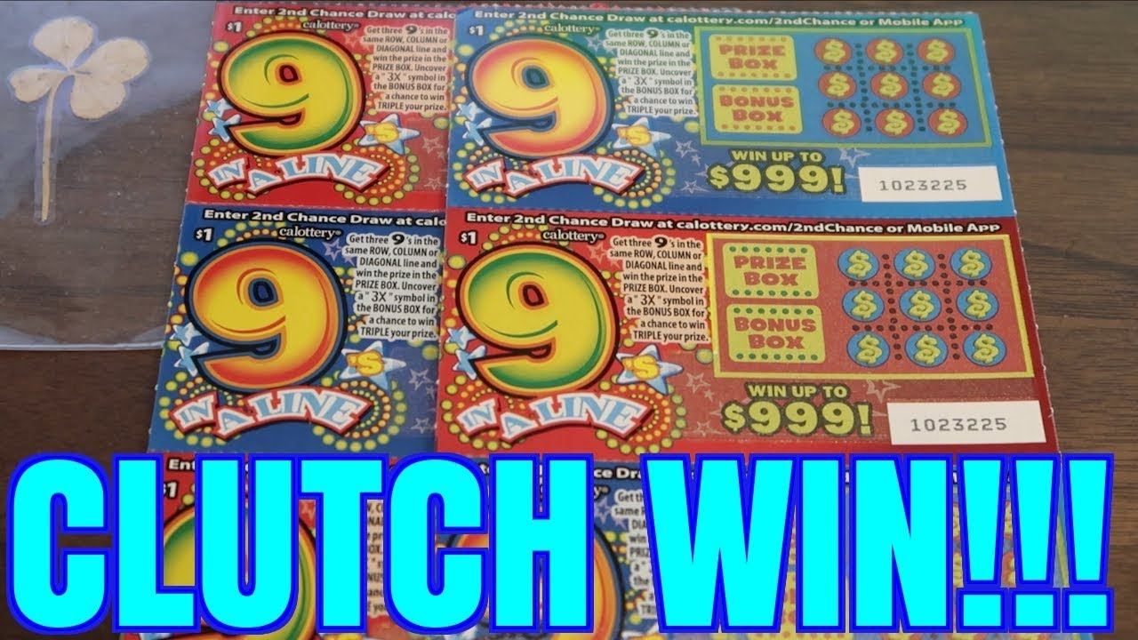 CLUTCH WIN SCRATCHING Find the 9s $1 California Lottery Scratcher