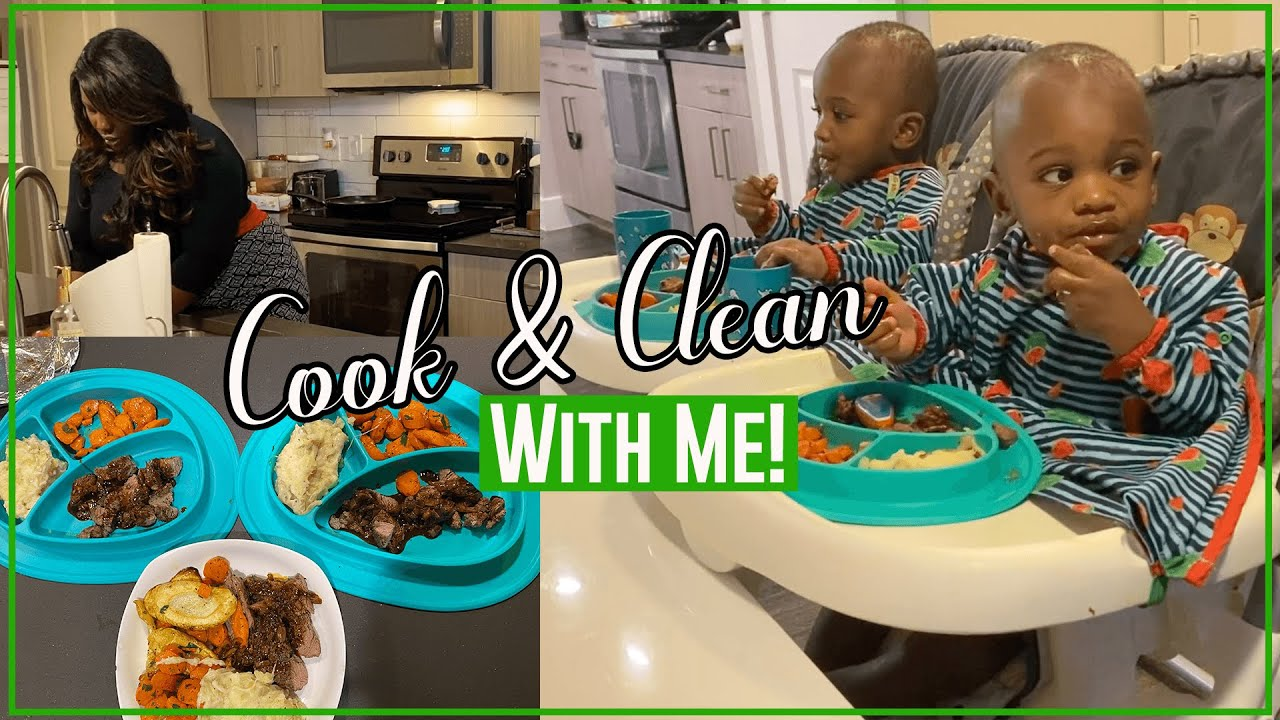 COOK AND CLEAN WITH ME | COOKING WITH HELLOFRESH | WHAT'S FOR DINNER | CLEANING MOTIVATION