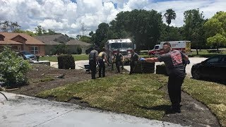First-Responders Finish Man's Yard Work After Saving Him From Heart Attack