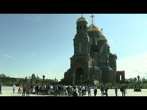 Главный храм Вооруженных сил России показали иностранным журналистам.